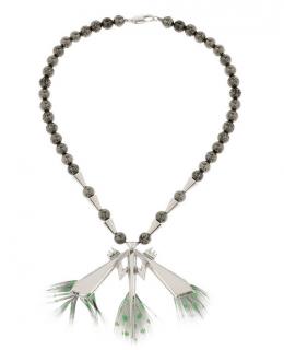 Eddie Borgo Silver-plated dragonfly necklace