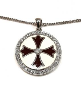 Bespoke Diamond Enamel Cross Pendant
