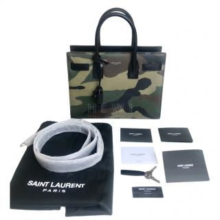 Saint Laurent Camo Sac Du Jour