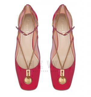 Dior Red Patent Diormotion Ballet Pumps