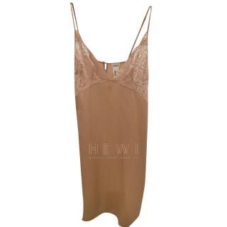 La Perla Nude Silk Lace Trim Slip