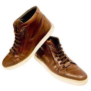 Boss Hugo Boss Cognac Leather Sneakers