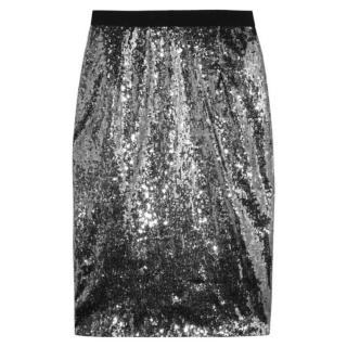 Moschino Cheap & Chic Sequin Pencil Skirt