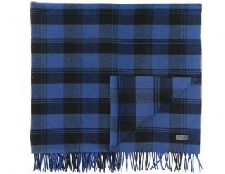 Saint Laurent large cashmere blend plaid scarf