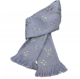 Louis Vuitton Pale Blue Logomania Shine Scarf