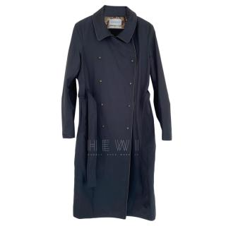 Yves Saint Laurent Blue/Gray Trench Coat