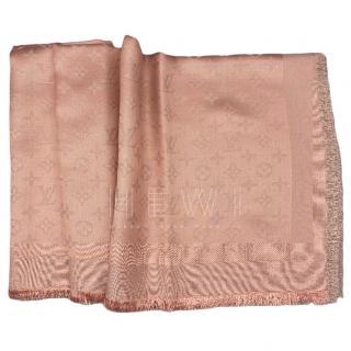 Louis Vuitton Pink Monogram Shine Shawl