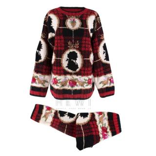 Joseph Fairisle Chunky Knit Jumper and Trousers