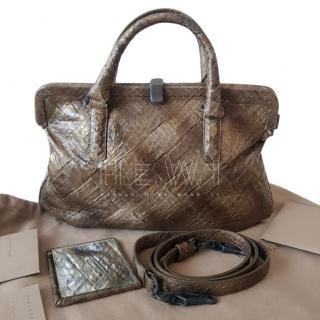 Bottega Veneta Python Tote Bag