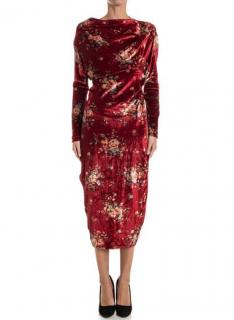 Andreas Kronthaler Unisex for Vivienne Westwood Velvet Dress