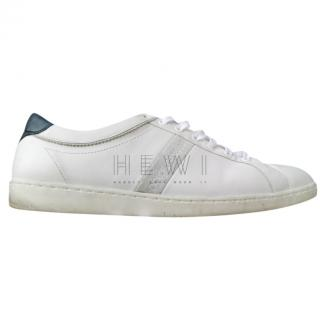 Dolce & Gabbana White & Navy Men's Sneakers