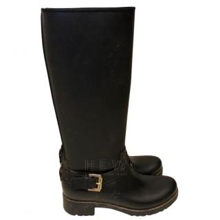 Mulberry Black Rubber Riding Boots