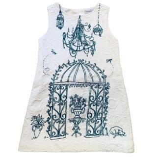 Dolce & Gabbana Girls Victorian Garden Print Jacquard Dress