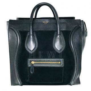 Celine Mini Luggage Tote Bag in Suede & Leather