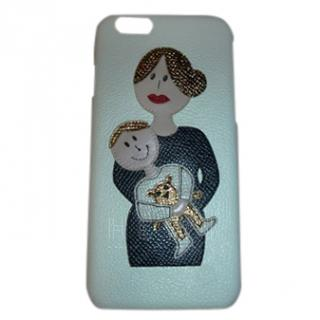 Dolce & Gabbana Mama and Baby Textured Leather iPhone case