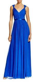 Vera Wang Blue Draped Gown