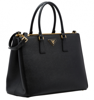 Prada Black Galleria Large Saffiano Leather Bag