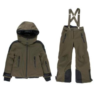 Moncler Kid's 4 Years Khaki Ski Suit