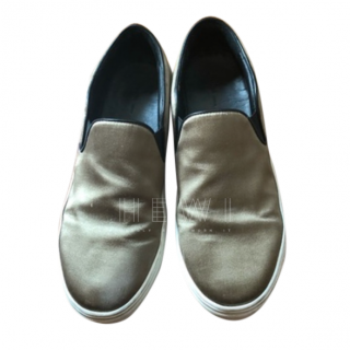 Celine Khaki Slip-On Sneakers