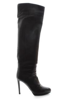 Sergio Rossi Black Leather OTK Boots