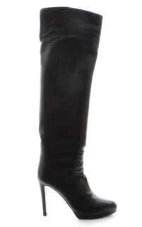 Sergio Rossi Black Leather OTK Boots