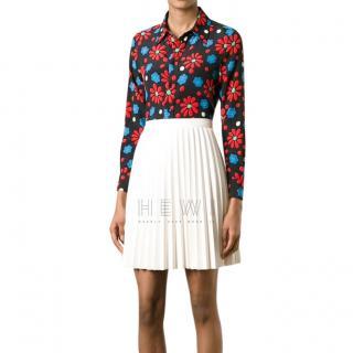 Saint Laurent runway floral print blouse