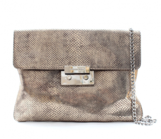 Michael Michael Kors Embossed Metallic Clutch