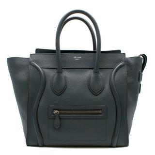 Celine Mini Luggage Handbag in Baby Drummed Calfskin
