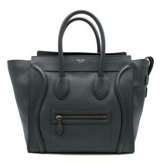 Celine Mini Luggage Handbag in Baby Drummed Calfskin