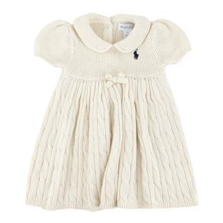 Ralph Lauren Cable-Knit Babydoll Dress