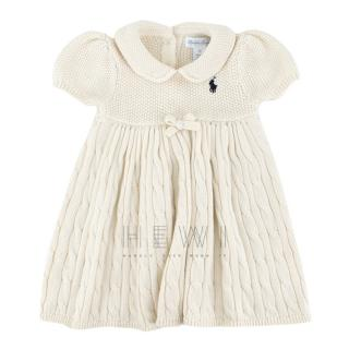 Ralph Lauren Cable-Knit Babydoll Dress