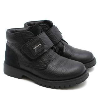 Dolce & Gabanna Kid's 26 Leather Boots