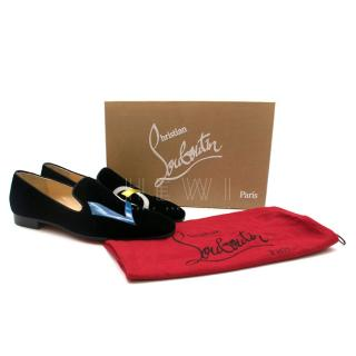 Christian Louboutin Velvet Dandylove Venetian loafers