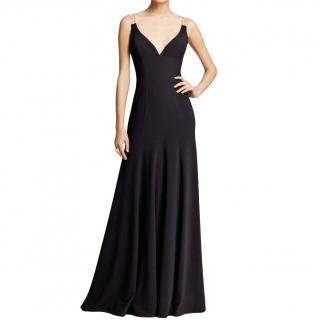 Vera Wang Illusion Draped Black Gown
