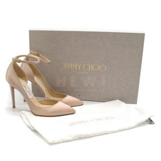 Jimmy Choo Pink Satin Pointed Toe Sandals