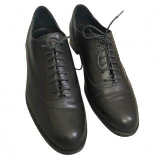Alberta Ferretti Black Lace-Up Oxfords