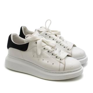 Alexander McQueen White & Black Oversized Sneakers