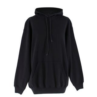 Balenciaga Black Logo Hoodie Sweater