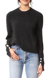 3.1 Phillip Lim Faux Pearl Button Sweater