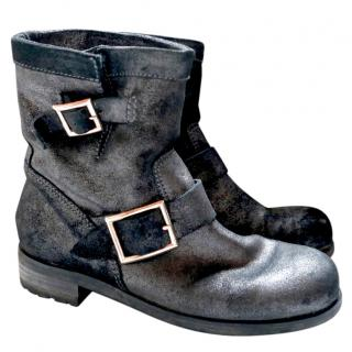 Jimmy Choo Metallic Suede Youth Boots