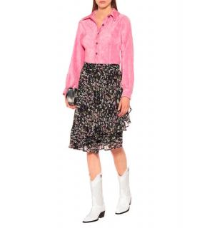 Ganni Floral Print Georgette Skirt