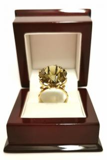 Bespoke very large octagonal Citrine cocktail ring