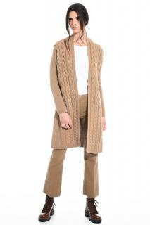 MaxMara camel wool and cashmere cardigan