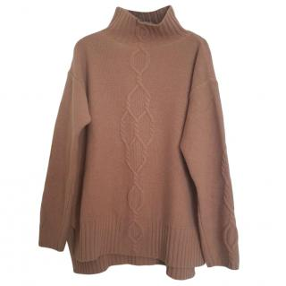 Max Mara Roll Neck Camel Jumper
