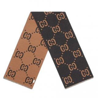 Gucci Reversible GG Wool Scarf