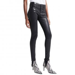 AG Jeans The Leather Legging in Super Black Skinny Jeans