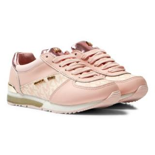 Michael Kors Pink Zia Allie Wrap Lace Up Trainers