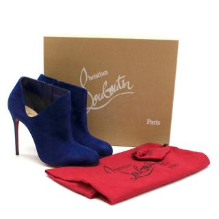 Christian Louboutin Lisse 100 Suede Royal Ankle Boots