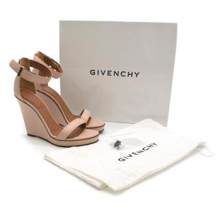 Givenchy Pink Zipper Wedge Sandals