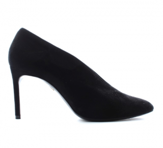 Lanvin Black Suede V Pumps